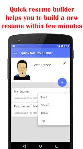 Quick Resume Builder- screenshot