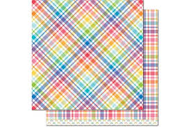 Patterned Paper Enchanting Patterned Paper Candy Buttons Perfectly Plaid Rainbow Collection