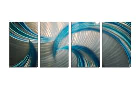 tempest blues v2 abstract metal wall art contemporary modern decor on brown and teal metal wall art with tempest blues v2 abstract metal wall art contemporary modern decor