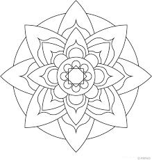 Mandalas Meditation Coloring Easy Flower Mandala Coloring Pages