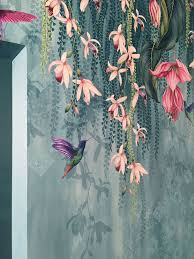 MURAL - TRAILING ORCHID TEAL / PINK ...