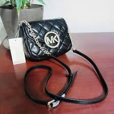 Nwt Michael Kors Fulton Quilted Leather Small Crossbody Bag Purse ... & Nwt Michael Kors Fulton Quilted Leather Small Crossbody Bag Purse Handbag  Black Adamdwight.com