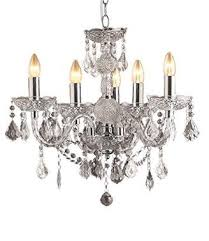 clear loxton lighting 5 light crystal effect chandelier chrome