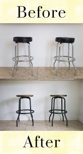 Outdated to Industrial Barstool Makeover DIY. Love this upcycle of old  barstools with a rustic