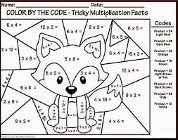 Significant emphasis to mental multiplication exercises. Color By Number Multiplication Coloring Rocks