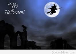 moon witch happy halloween ecard quote