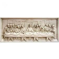 last supper wall relief 25in fiberglass wall art f9504