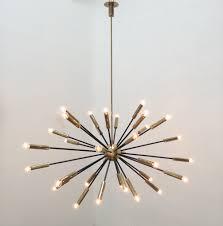 how to make cozy modern living room with sputnik chandelier elliptical sputnik chandelier for modern