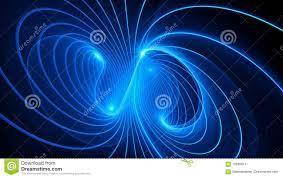 Fondo Misterioso Del Campo Electromagnético Stock de ilustración -  Ilustración de nuclear, trayectoria: 102988141