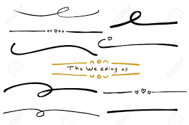 Wedding Title Hand Draw Sketch Of Various Wedding Title Border