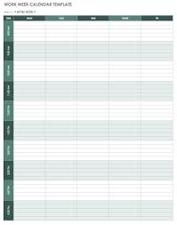 Weekly Calendars With Hours Weekly Calendar With Hours