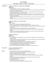 Clerical Assistant Resume Sample Clerical Assistant Resume Samples Velvet Jobs 8