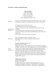 executive assistant sample resume skills  best create