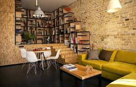 shelves on brick wall contemporary kitchen stainless steel cabinet fronts wood shelves brick wall hanging shelves