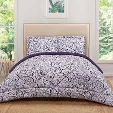truly soft watercolor paisley eggplant twin extra long comforter set cs2215egtx 1500 the home depot