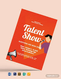 Free Talent Show Flyer Template Word Psd Apple Pages