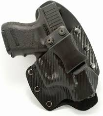 outlaw holsters nt hybrid black carbon fiber kydex leather iwb holster for springfield xds 4 0 w crimson trace red right handed com