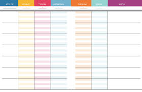 Teachers Weekly Planner Template Major Magdalene Project Org