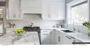 kitchen backsplash. Modern White Marble Glass Kitchen Backsplash Tile