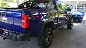 Laser Blue Metallic 2017 Chevy Colorado 4WD ZR2 Extended Cab - YouTube