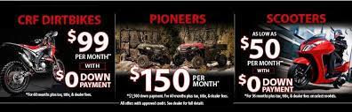 With credit approval for qualifying purchases made on the honda powersports credit card at participating dealers. Honda Motorcycle Atv Utv Dealer In New Jersey Lilliston Honda Vineland Nj 856 896 6700