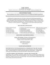 Nursing Resume Templates Free Entry Level Nurse Template Student