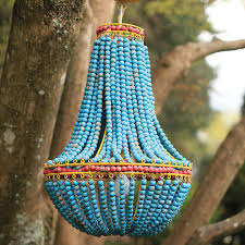 turquoise beaded chandelier beaded chandelier teal hanging light fixture