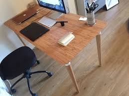 buy office desk natural. NEW Beautiful Office Desk Natural Wood Bamboo HILVER Ikea Buy 1