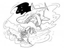 Small Picture Tiger Shark Coloring Pages Tiger Shark Coloring Page Pickle