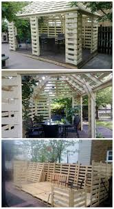 Pavilion Made From Recycled Pallets