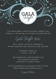 Invitation For Gala Dinner Sample Mealapp Co