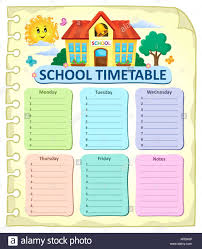 School Time Table Chart Cut Out Stock Images Pictures Alamy