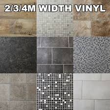 quality non slip vinyl flooring kitchen bathroom lino wood tiles rolls