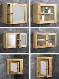 oak bathroom cabinet wall mounted