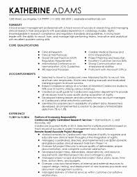 Clinical Research Coordinator Resume Sample Clinical Research
