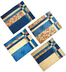 Free Placemat Quilt Patterns - Best Accessories Home 2017 & Take Four Placemats Pattern Adamdwight.com