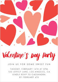 Valentines Day Invitations Stunning Valentine's Day Party Invitations Match Your Color Style Free