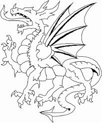 Small Picture Dragon coloring pages for kids