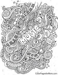 Free Printable Musical Notes Coloring Pages Music Coloring Pages