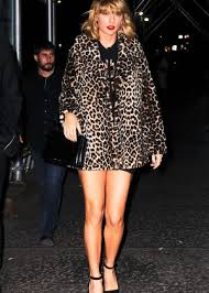 Small Picture Taylor Swift in Leopard Print Coat 25 GotCeleb