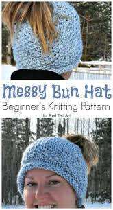 Messy Bun Beanie Knitting Pattern Amazing Design