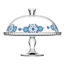 details about large glass cake stand with lid pedestal dome cupcake pastry food display 95200