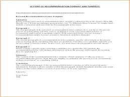 Teacher Recommendation Template Letters Of Recommendation Templates Personal Letter Of