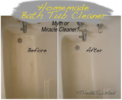 homemade bath tub cleaner myth or miracle cleaner tried twisted