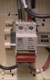installing a consumer unit instructions on wiring a consumer live and neutral coming into the main double pole switch from the meter and earth terminal