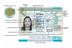 how to read a green card front