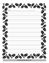 christmas writing paper printables writing paper a holly border