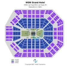 Mgm Grand Vegas Seating Chart Mgm Grand Garden Arena Tickets And Mgm Grand Garden Arena