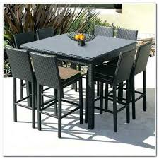 cane wicker 8 seater garden dining table