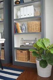 diy book shelves in home office makeover